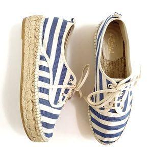 Loeffler Randall Alfie Striped Espadrille Sneaker